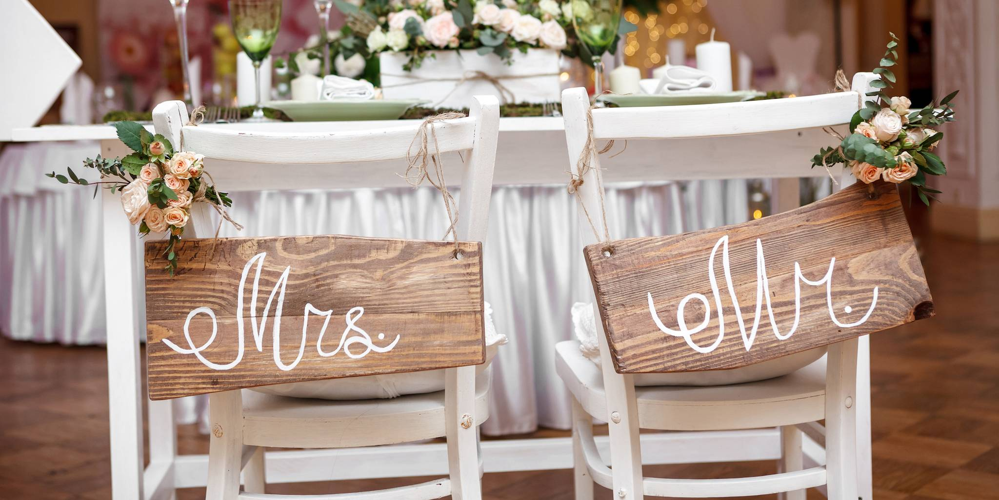 mr.and mrs. signs