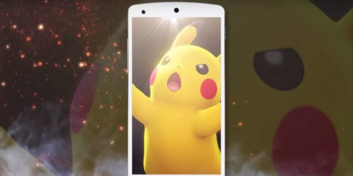 Screengrab from a trailer for Pokemon Sun and Pokemon Moon, showing three Pokemon sitting on a table.