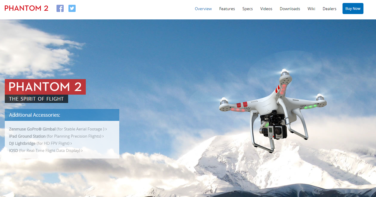 The product page for the Phantom 2