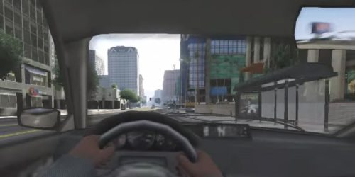 Driving in GTA V in first person
