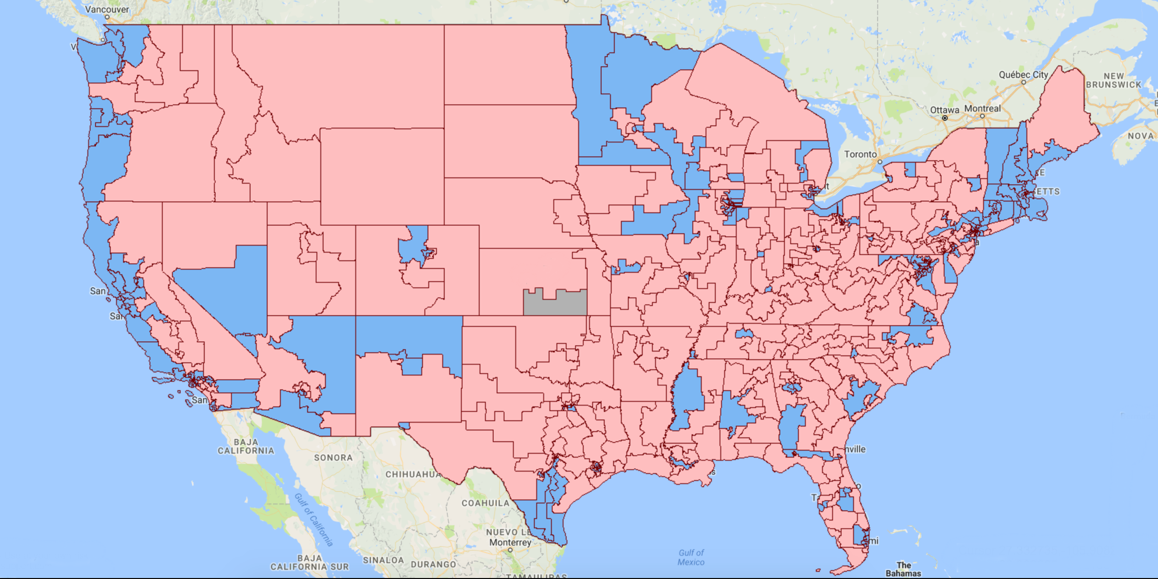 U.S. Congressional Districts Map