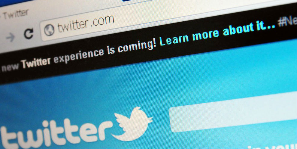 Twitter's log-in page