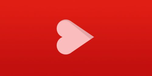 Heart as YouTube Logo
