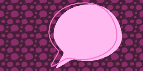 femsplain speech bubble logo pattern