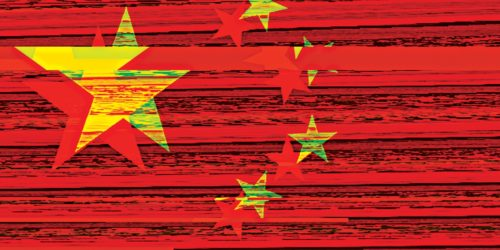 glitched Chinese flag