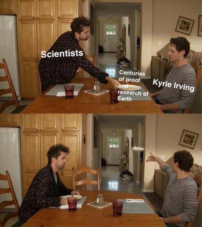 kyrie irving always sunny food throwing meme