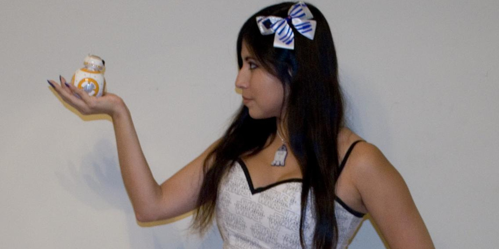 Cosplayer who created Star Wars droid dress