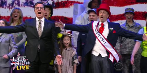 John Stewart and Stephen Colbert voting song