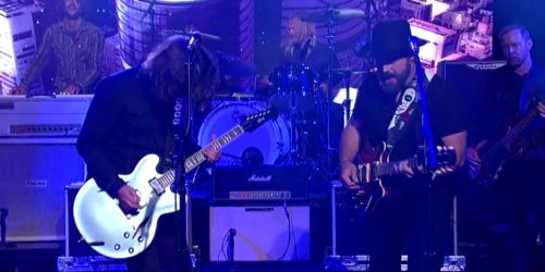 "Foo Fighers and Zac Brown cover Black Sabbath on ""The Late Show With David Letterman."""